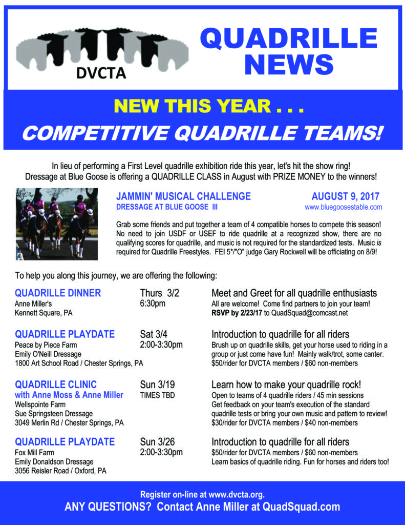 DVCTA Quadrille News